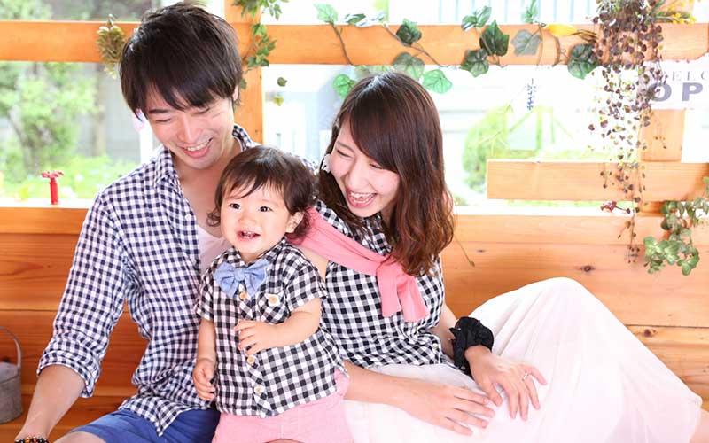 笑顔の家族